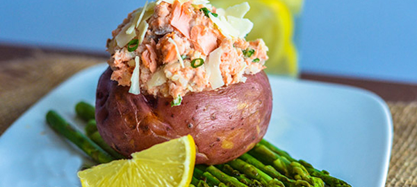 The Muscle Gainer – Salmon Stuffed Red Potato